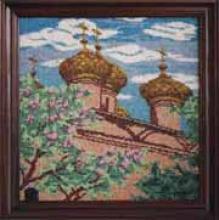 Картина из бисера Церковь