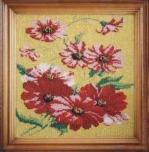 Вышивка бисером, картина из бисера, Цветы