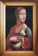 Картина из бисера Дама с горностаем