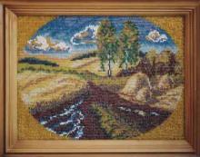 Вышивка бисером, картина из бисера, Дорога