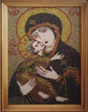Картина из бисера Икона Владимирской богоматери