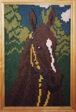 Картина из бисера Голова лошади