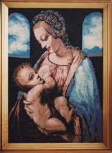 Картина из бисера Мадонна с младенцем