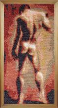 Картина из бисера Натурщик