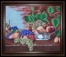 Вышивка бисером, картина из бисера, Натюрморт