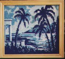 Вышивка бисером, картина из бисера, Южная ночь