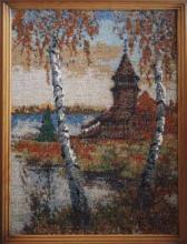 Картина из бисера Осень