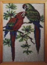 Картина из бисера Попугаи