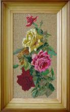 Вышивка бисером, картина из бисера, Розы