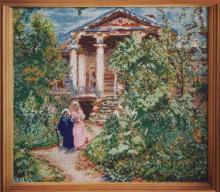 Картина из бисера Бабушкин сад