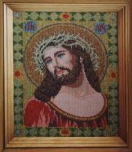 Картина из бисера Спаситель в терновом венце