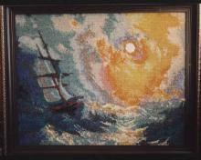Картина из бисера Девятый вал