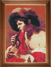 Вышивка крестом Флейтист