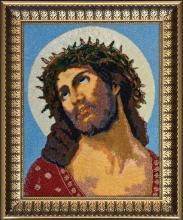 Картина Иисус Христос.Вышивка бисером