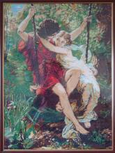 Вышивка крестом Качели