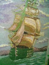 Фрагмент картины Айвазовского Смотр Черноморского флота